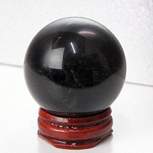 [해외]모리온 둥근 원석 morion 블랙 크리스탈 수정 구슬 40mm 구슬 천연석 파워 스톤 a10076/Morion Round rock gemstone morion Black crystal quartz ball 40 mm beads natural stone power stone a 10076