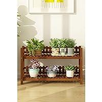 木製フラワーラック室内植物スタンド木製植物フラワーディスプレイスタンド木製ポットシェルフストレージラック屋外 (サイズ さいず : 90 * 25 * 52cm)