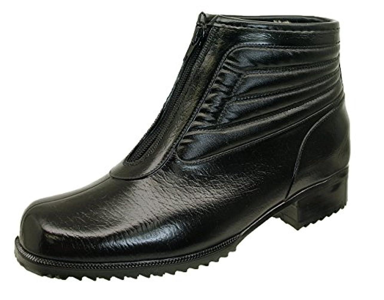 合併流す若者[アキレス] ACHILLES コザッキー COSSACKY 6490 G-64 ビジネス ラバーブーツ 黒 ファスナー付き 防寒 防水 防雪 (27cm)