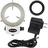 AmScope LED-144W-ZK-A ホワイトアジャスタブル144 LEDリング照明 顕微鏡 マイクロスコープ用 [並行輸入品]