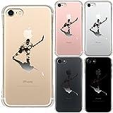 iPhone7 対応 エアークッション ソフト クリア ケース 保護フィルム付 アイスホッケー 影付き