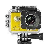 SJCAM SJ5000X elite アクション カメラ wifi SONY 製 CMOS イメージセンサ 4K 対応 24fps 防水 30m 広角 170度 バッテリ 1個付属 合計 2個 passion オリジナル セット ◇SJ5000XELITE (イエロー)