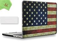 """ueswill 2in1Smooth柔らかい手触りマットつや消しハードシェルケースとシリコンキーボードカバーfor MacBook Pro with Retina Display +マイクロファイバークリーニングクロス MacBook Pro 13"""" with Retina Display UES05F13R2-25"""