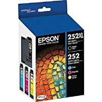 Epson T252XL-BCS Combo Pack Black High Capacity and C/M/Y Standard Capacity Cartridges [並行輸入品]