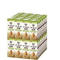 グリコ乳業 アーモンド効果 砂糖不使用まろやかコーヒー 200ml紙パック×24本入×(2ケース)