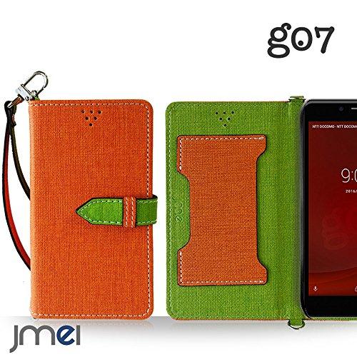 goo g07 ケース JMEIオリジナルカルネケース VESTA オレンジ グー グーマル OCN モバイル mobile simフリー covia スマホ カバー スマホケース 手帳型 ショルダー スリム スマートフォン
