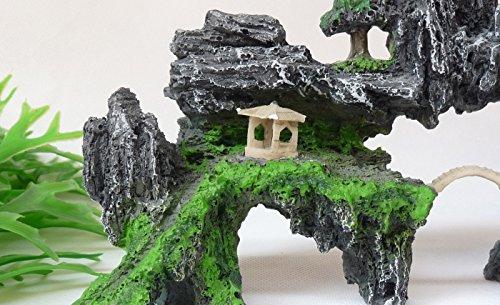 水槽内アクセサリー アクアリウム 緑景 パビリオン ロック シェルター
