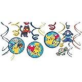 ポケモン パーティーグッズ 誕生日 飾り スワールデコレーション ハンギング 12個セット Swirl Decorations 並行輸入品 Pokemon