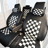 Z-style キューブ Z11系 専用 シートカバー モノクロームチェック ブラック×ホワイト ZN01-CH01