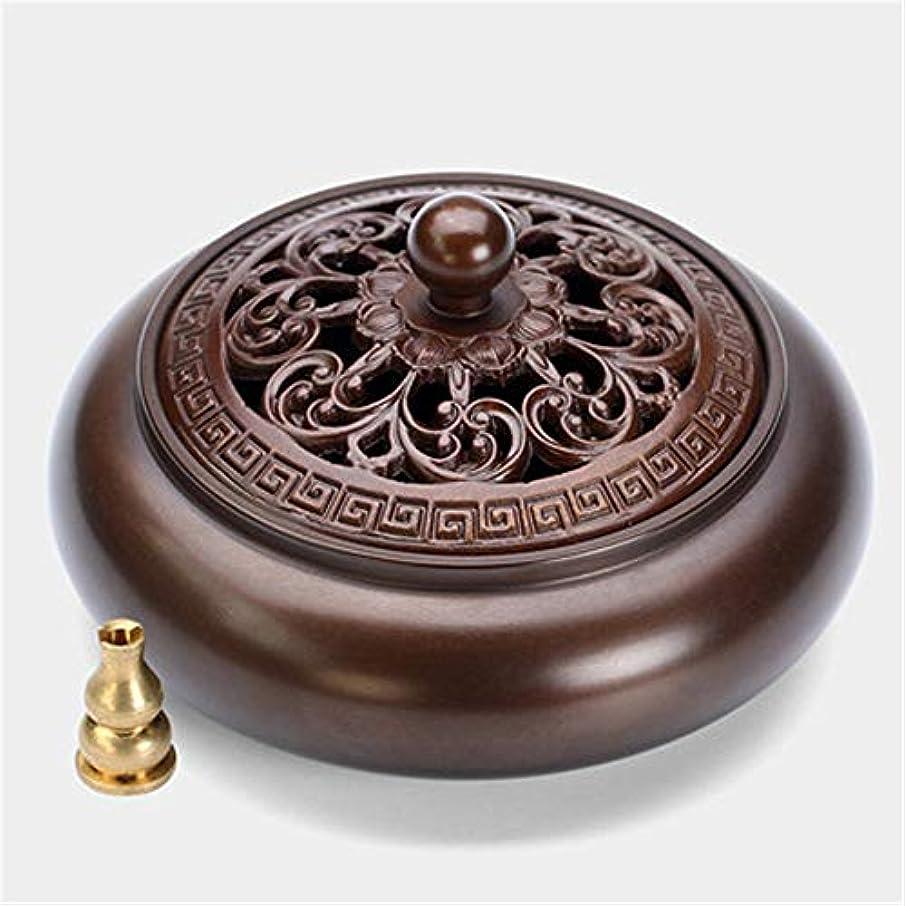スープ評価するスクワイア香水ホルダーアロマセラピーバーナーを返す香スティックホルダー銅手動ポストフロー香バーナーベルトは家の装飾ヨガセットに適しています