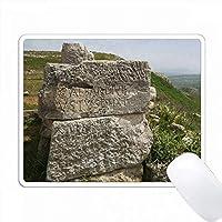 アルバニア、Ballsh、Illyrian都市Byllisの碑文、記念碑。 PC Mouse Pad パソコン マウスパッド