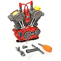 Build-Your-Own Engine Play Set and Power Drill Kit by Brunfen Toys [並行輸入品]