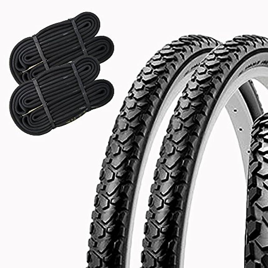 凝視アンペアシールSHINKO(シンコー) 自転車 タイヤ 20インチ チューブ セット ペア巻き SR046 20×1.75 HE (ブラック)