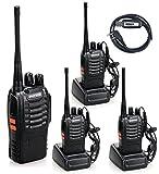 Kanext 無線機 トランシーバー アマチュア無線機 4台セット 充電器付 イヤホンマイ付 アンテナ付 災害 地震 対策 BF-888S プログラミング ケーブル付