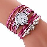 女性手首腕時計、jushyeレディースカジュアル腕時計ブレスレットダイヤモンド円学生腕時計ファッション表 マルチカラー