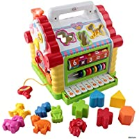 [Memtes]Memtes Musical Activity Cube Educational Play Center Toy, Shape Sorter Toy with Tons of Functions & Skills [並行輸入品]
