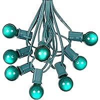 Amazon novelty lights g30 globe outdoor string lights with 25 green globe bulbs by novelty lights commercial grade outdoor lights bulb string lights globe string lights mozeypictures Choice Image