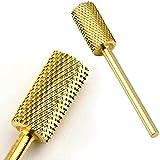 ネイルマシーン用ビット ゴールドカラービット アクリルや厚いハードジェルのオフ除去に最適 ゴールドカラーの付け替えアタッチメント ネイルマシン用 ジェルネ.
