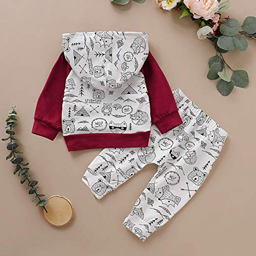Simplee kids Newborn Baby Boy Girl Fall Winter Clothing Set Casual Cotton Outfits Print Animal Cute Clothes (0-3 Months)