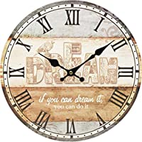 18-AnyzhanTrade ウォールクロックサイレントムーブメントウォールクロックホームオフィスインテリアリビングルームベッドルームとキッチンクロックウォールアンティーク時計 (Color : B)