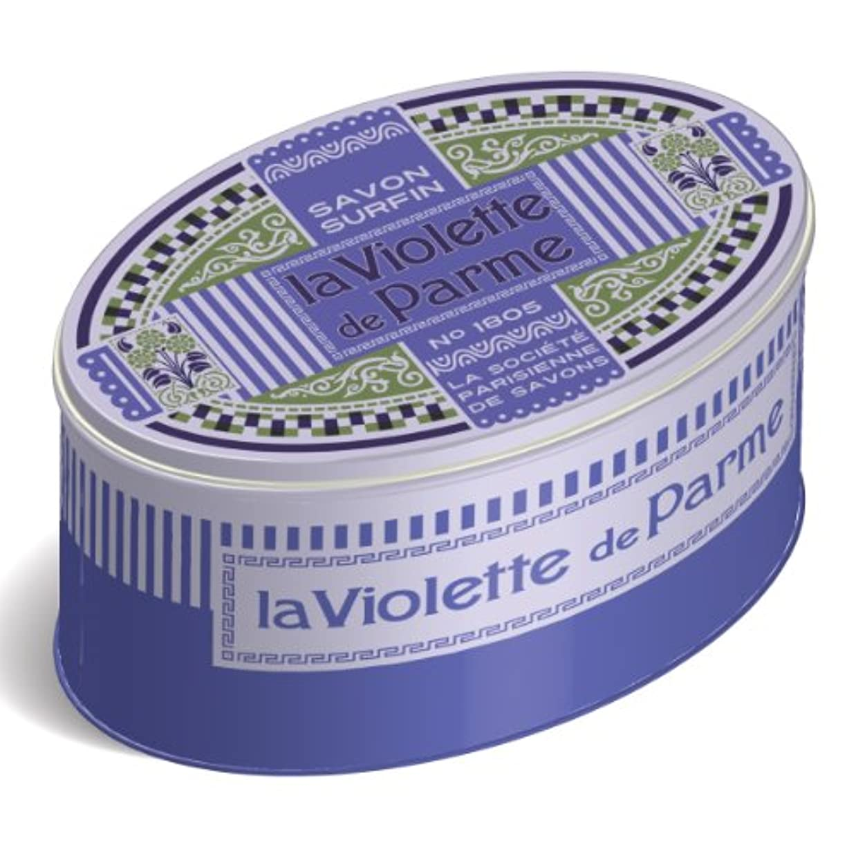 一過性家庭創始者LA SOCIETE PARISIENNE DE SAVONS フレグランスソープ(缶入) 250g 「ラヴィオットデパルム」 3440576130614