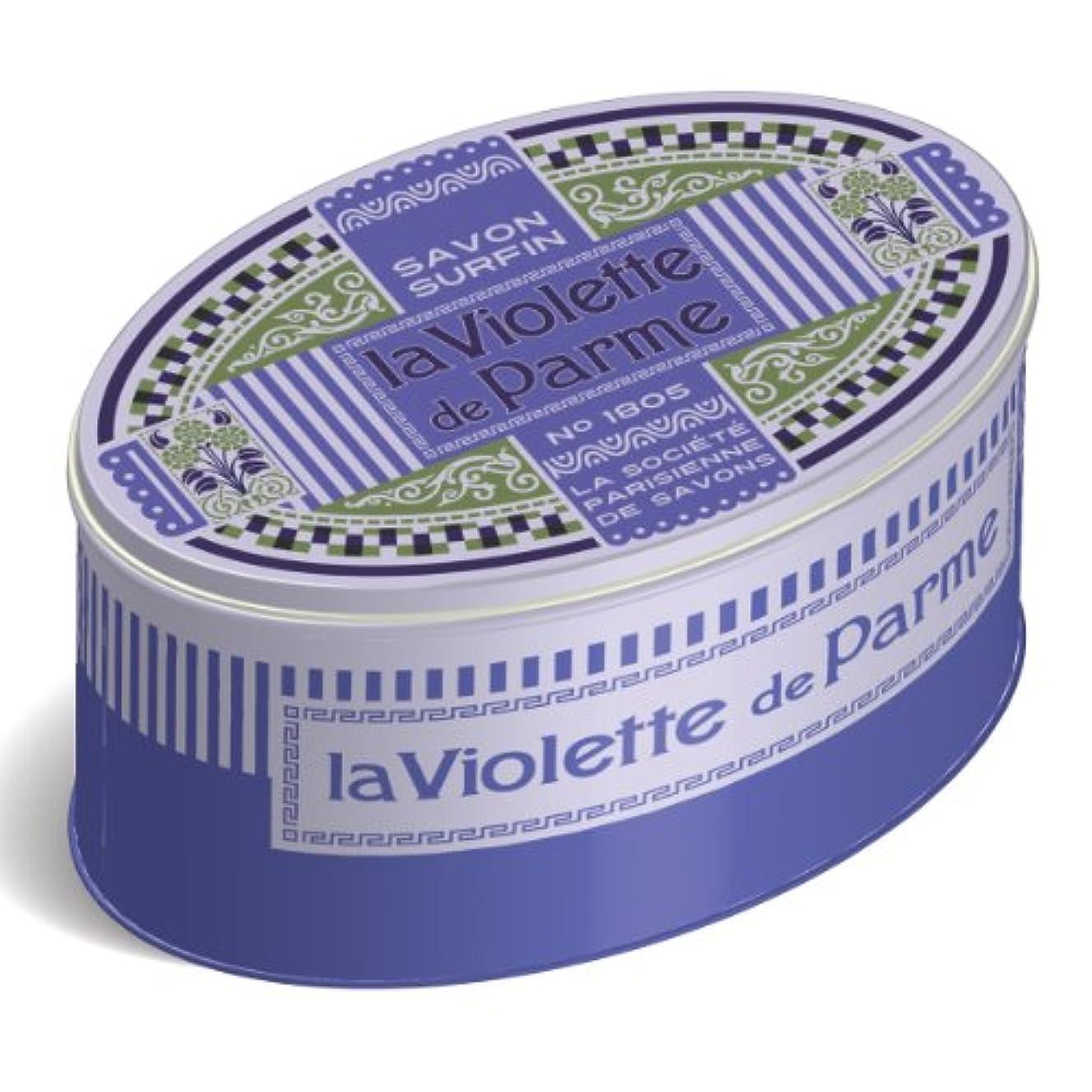 構造祖先緯度LA SOCIETE PARISIENNE DE SAVONS フレグランスソープ(缶入) 250g 「ラヴィオットデパルム」 3440576130614