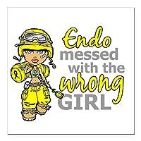 "CafePress–Combat Girl endometriosi Squareカーマグネット3"" x 3""–Squareカーマグネット、磁気バンパーステッカー Small - 3x3 126653730986044"