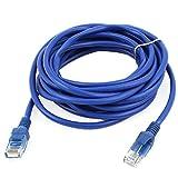 uxcell ネットワークケーブル LANケーブル RJ45-RJ45 8P8Cオスプラグ LANイーサネット 4M長 ブルー