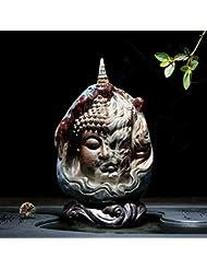 PHILOGOD 陶器仏壇用香炉 ユニークなスタイリング逆流香炉 お香 ホルダー紫砂香立て (style2)