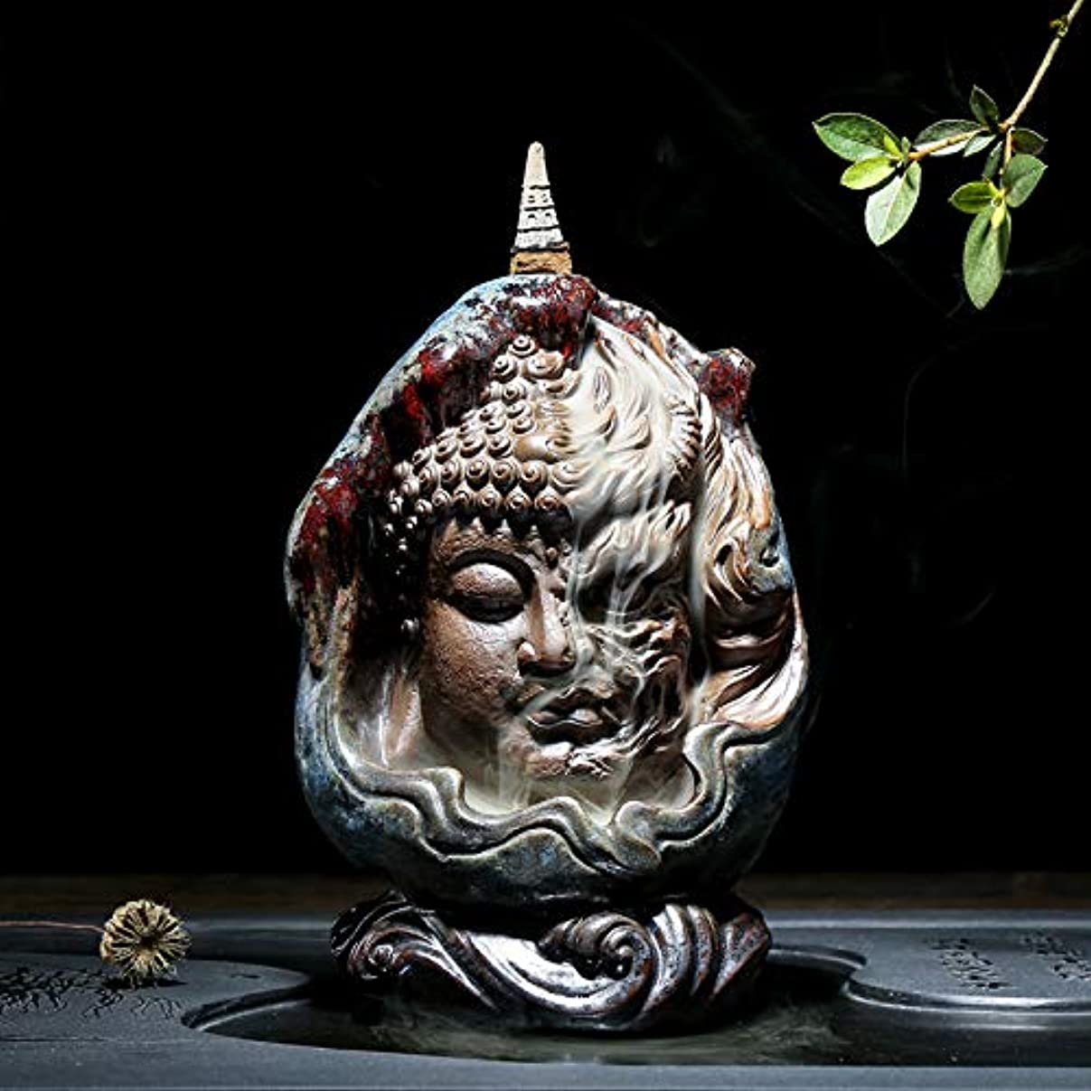 PHILOGOD 陶器仏壇用香炉 ユニークなスタイリング逆流香炉 お香 ホルダー紫砂香立て