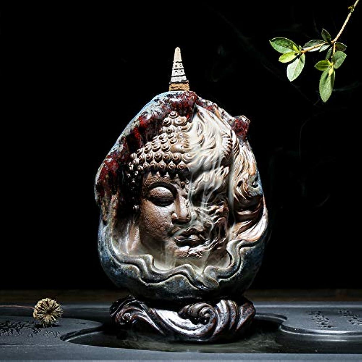 セクションマート蓋PHILOGOD 陶器仏壇用香炉 ユニークなスタイリング逆流香炉 お香 ホルダー紫砂香立て