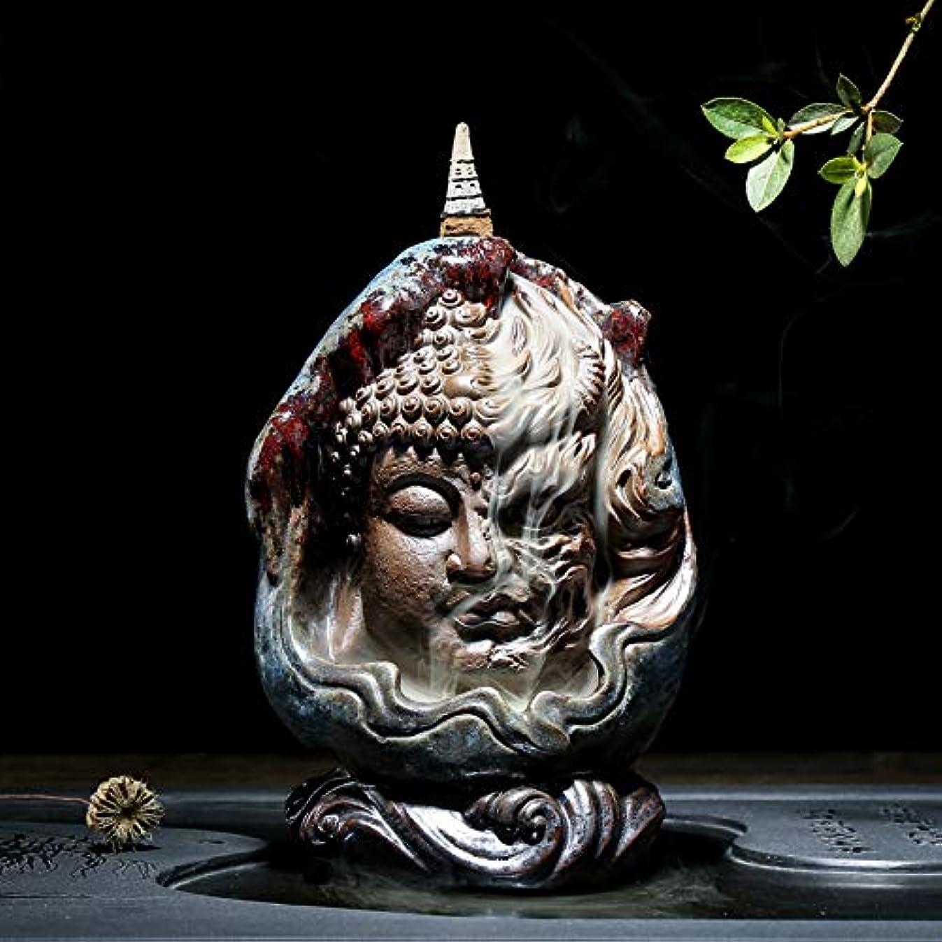 スーツケース早める該当するPHILOGOD 陶器仏壇用香炉 ユニークなスタイリング逆流香炉 お香 ホルダー紫砂香立て