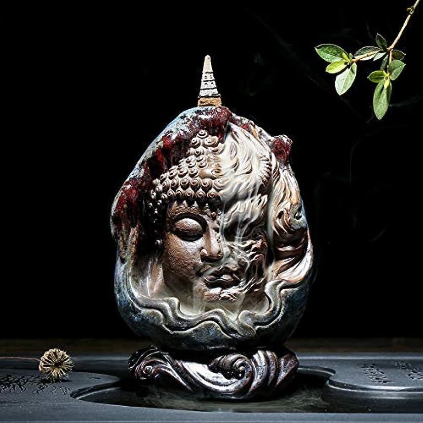信じられないいつかブルPHILOGOD 陶器仏壇用香炉 ユニークなスタイリング逆流香炉 お香 ホルダー紫砂香立て