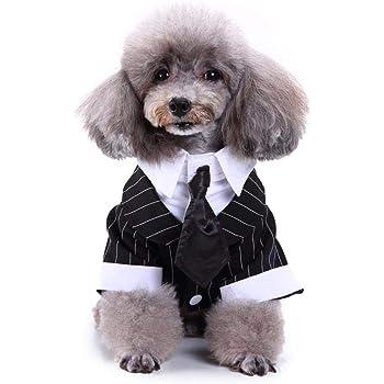 2aeae342e89cc 犬用コスチューム 犬変装服 ペット服 結婚式 パーティー 紳士スーツ タキシード 立派 お出かけ タイ 仮装 簡単着脱 ペット用 室内 室外  ドッグウエア