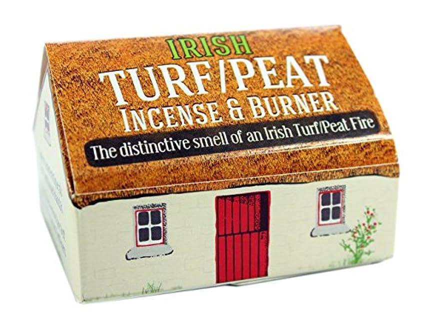 プレミアム注釈カニIrish Turf/peat Incense And 3.8cm Sq Burner Plate,beige, New