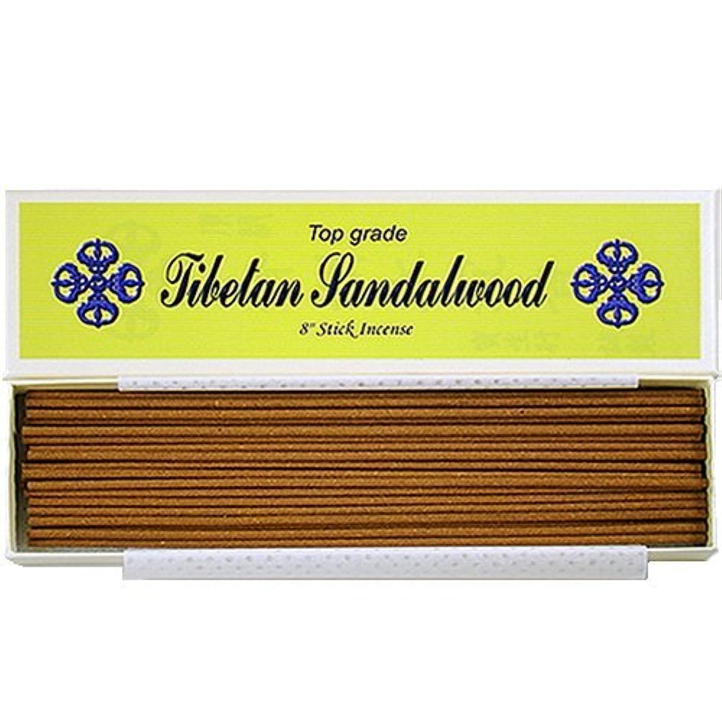 活発静けさ中級20cm Top Grade Tibetan Sandalwood Stick Incense - 100% Natural - J007Tr-r1