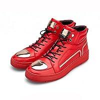 LVZAIXI 冬ハイトップシューズ男性靴タイドシューズLシューズ (色 : Red, サイズ さいず : EU40/UK7/CN41)