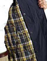Washed Cotton Balmacaan Coat 1125-133-4496: Navy