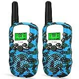 Wcocow トランシーバー子供ギフト Walkie Talkies 無線機 2台セット LED懐中電灯 フラッシュライト 無線 特定小電力トランシーバー 低..