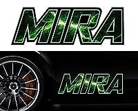 ミラmiraサイドステッカーmkss30/両サイドセット特大サイズ/かっこいい上質バイナルグラフィック/ワイルドスピード系デカール/限定