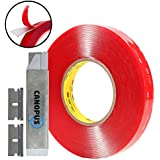 Clear Double Sided Tape, 3M VHB 4910 Tape, Heavy Duty Mounting Two Sided Tape, (1 in x 15 ft)