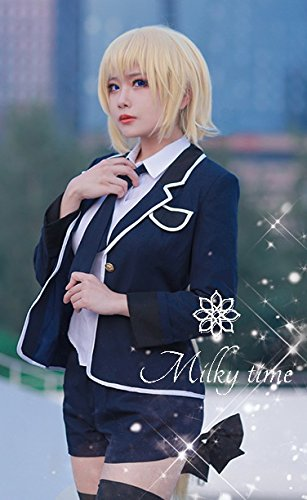 [milky time]ウィッグ付☆ Fate Apocrypha ルーラー ジャンヌダルク 風 制服 衣装 コスプレ コスチューム cosplay