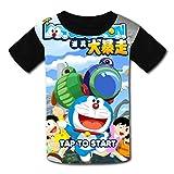 偉大X001 おしゃれ カジュアル ドラえもん-漫画 プリント 通勤 半袖 キッズ Tシャツ
