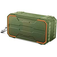 Willnorn SoundPlus ワイヤレス Bluetooth 4.2 スピーカー 【IPX6防水認証 / 屋外 アウトドア対応 ポータブル 外装 / 10W 高音質 / マイク内蔵 / TF カード対応】 (オリーブグリーン)