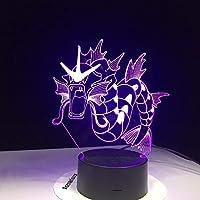 Dtcrzj Aiポケモン3Dランプ7色Ledナイトランプ用キッズタッチLed Usbテーブルベビー睡眠常夜灯