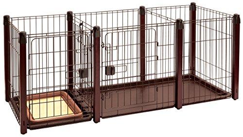 ペティオ トイレのしつけが出来る 木製ドッグルームサークル...