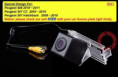 Greatek HD 高画質 リアカメラ ( ブラック)バックカメラ キット CCDカメラ , 専用 プジョー Peugeot 301/308/408/508/C5/3008//307(Hatchback)/307CC (13~15)/ Citroen C2 C4 C5 DS3 Elysee