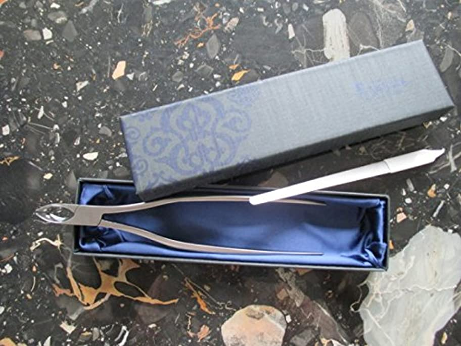 回転させる注入コンパスアンクル ロングニッパー爪切り 爪ヤスリ付き 届かない足の爪?巻き爪も整えられます!化粧箱入りでプレゼントに最適!