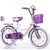 自転車 女の子の子供の学生プリンセス自転車18/20/22インチ6-7-8-9-10-16歳のバックパウダー+ホワイトタイヤ (サイズ さいず : 20 inch)