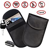 Treedeng Faraday Bag Key fob, Car Key Signal Blocker Case, Keyless Entry Fob Guard Signal Blocking Pouch Bag, Antitheft Lock Devices (2 Pack, Black)
